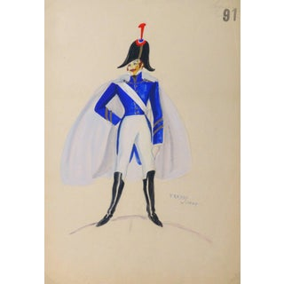 Freddy Wittop, French Theater Costume Drawing For Sale