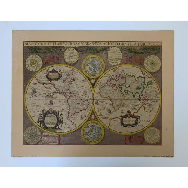 English Traditional Vintage Framed Maps 1589-1670 by Speed, Ortelius, Hondius & Jansson For Sale - Image 3 of 7