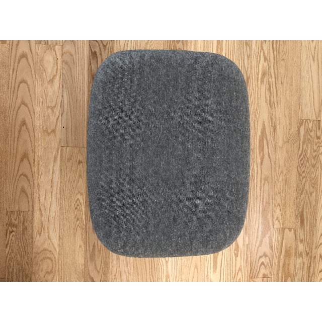 Gray Blu Dot Charcoal Wool Field Lounge Chair & Ottoman For Sale - Image 8 of 11