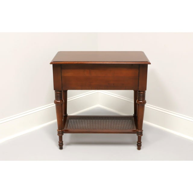 Ethan Allen Ethan Allen Traditional Nightstand With Caned Shelf A For Sale - Image 4 of 12