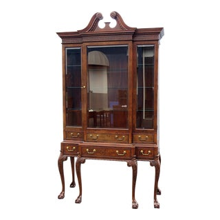 Baker Georgian Style China Cabinet For Sale