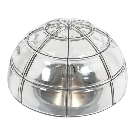 Limburg flush mounts Ceiling lamp Clear Glass one out of five, 1970 For Sale
