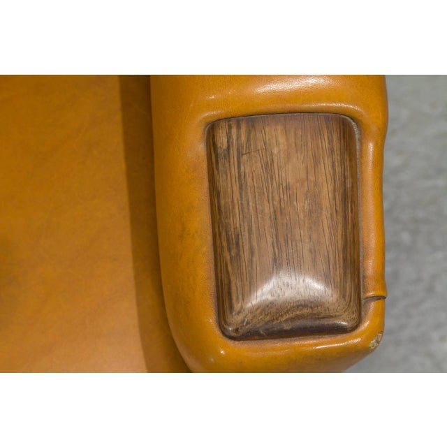 High Back Danish Modern Lounge Chair For Sale - Image 9 of 10