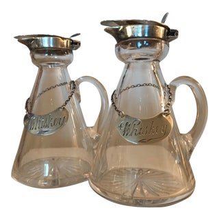 Early 1900s Mini Whiskey Jugs - A Pair For Sale