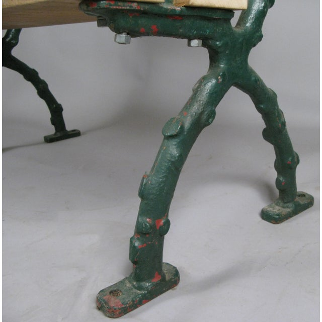 Early 20th Century Early 20th Century Antique Cast Iron English Garden Bench For Sale - Image 5 of 7