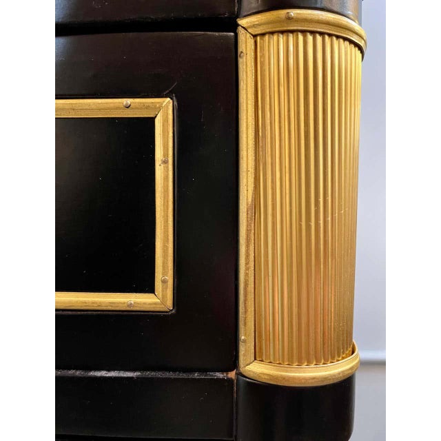 Maison Jansen Style Hollywood Regency Commodes or Chests / Nightstands a Pair For Sale - Image 11 of 13