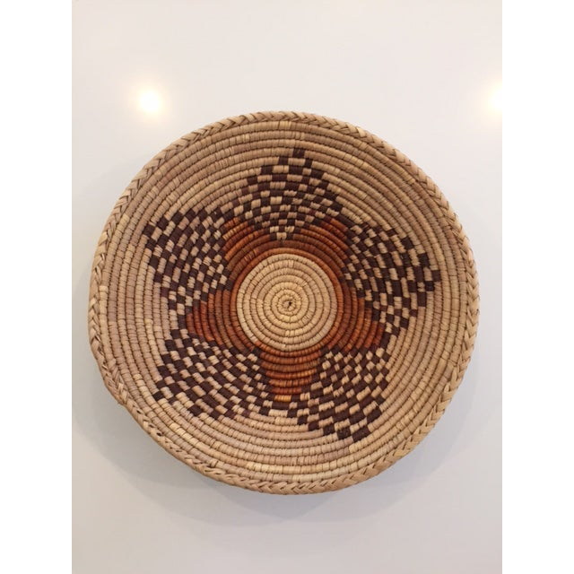 Vintage Native American Style Coil Basket - Image 2 of 8