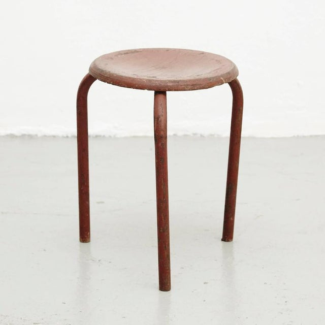 Stool Attributed to Jean Prouvé, circa 1950 - Image 2 of 6