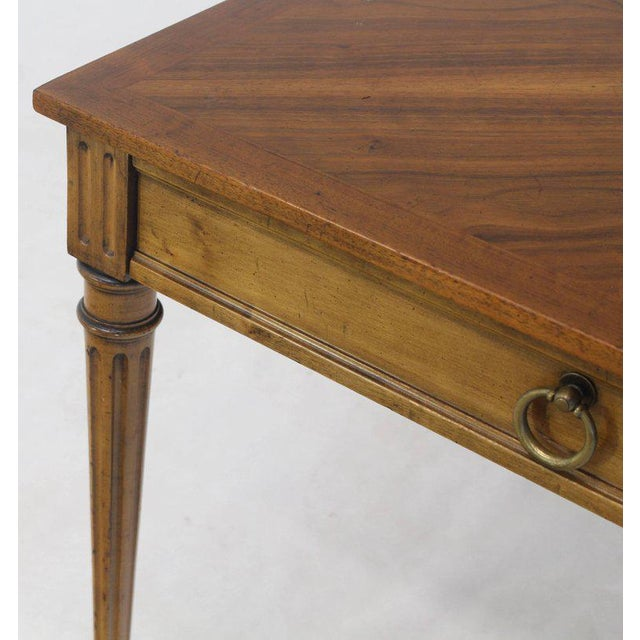 1960s Baker Square Satinwood Side Lamp Table For Sale - Image 5 of 10