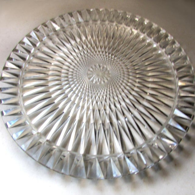 Mid Century Vintage Diamond Plastic Cake Plate With Cover | Chairish