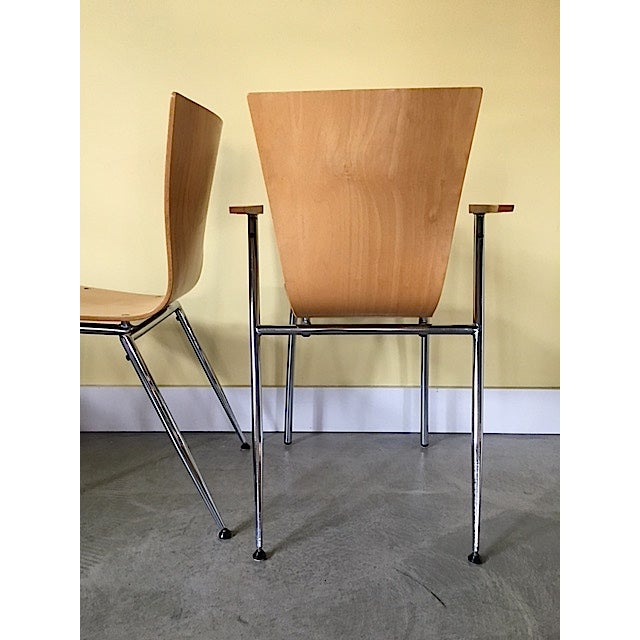 Arne Jacobsen Arne Jacobsen Style Bent Wood Chairs - Set of 4 For Sale - Image 4 of 6