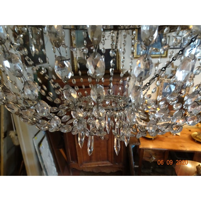 18th Century Empire Crystal Chandelier For Sale - Image 11 of 13
