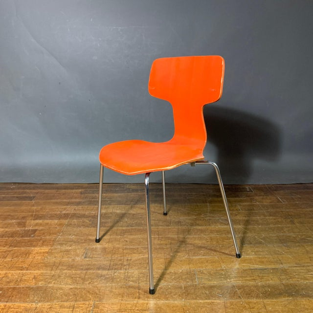 1970s 1970s Vintage Arne Jacobsen For Fritz Hansen Dining Chairs-Set Of 5 For Sale - Image 5 of 11