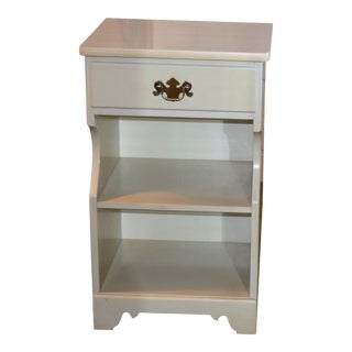 1980s Vintage Ethan Allen White Nightstand For Sale