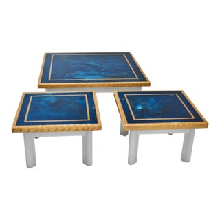 1970s Pair of Resin 1970s Side Tables For Sale