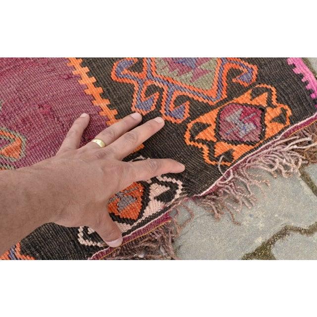 Hand-Woven Turkish Runner - 5′5″ × 14′4″ - Image 10 of 10