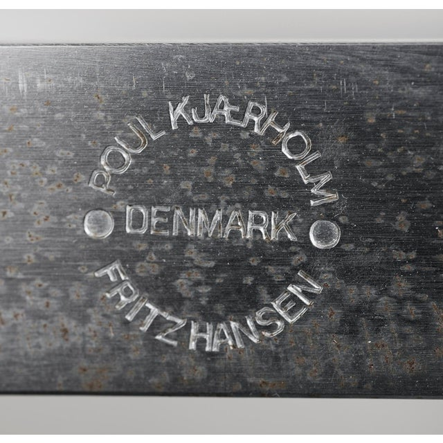 Poul Kjaerholm Pk61 Coffee Table in Honed White Marble, Denmark, 1989 For Sale - Image 9 of 10