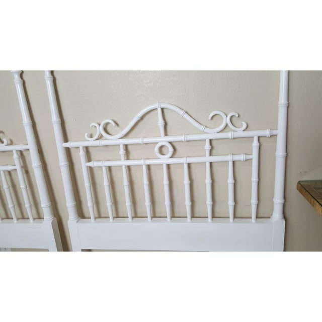 Drexel Vintage Kensington by Drexel Twin Faux Bamboo Headboards - a Pair For Sale - Image 4 of 8