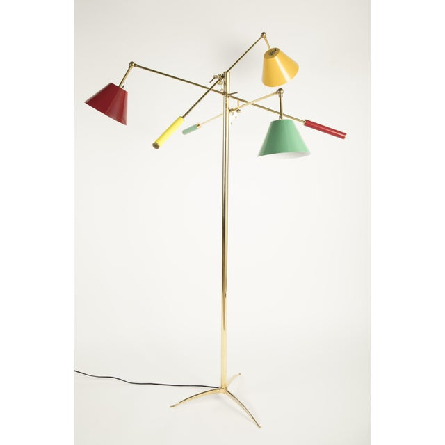 Mid 20th Century Triennale Floor Lamp Attributed to Gino Sarfatti For Sale - Image 5 of 9
