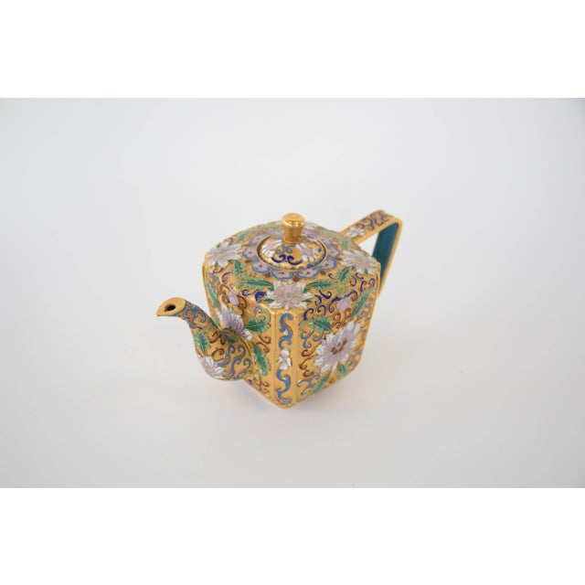 Chinese Champleve Enamel Teapot - Image 4 of 6