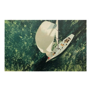 Henry Koehler Contellation Below Sailing Litho For Sale