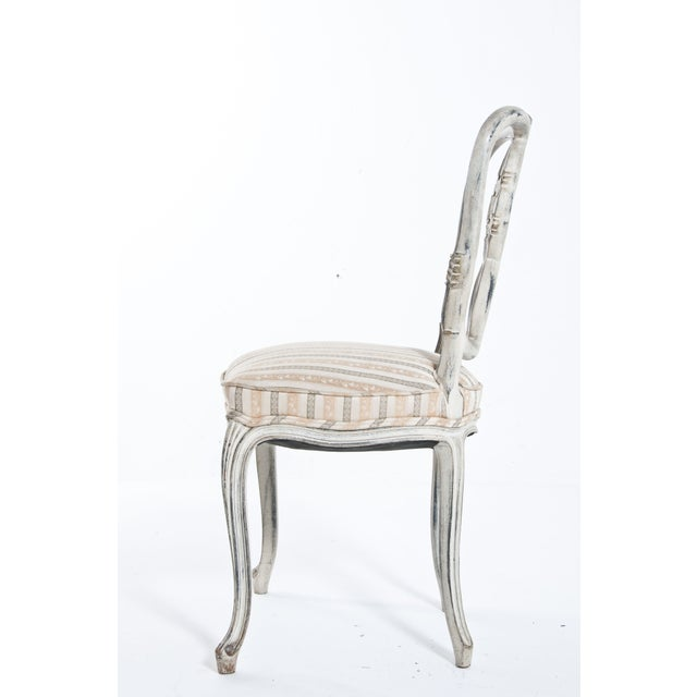 French Country Painted Ribbon Chair For Sale - Image 3 of 8