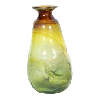 Peter Bramhall Mid Century Modern Studio Art Glass Vase For Sale
