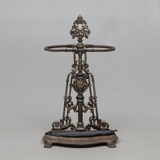 Mid 19th Century Umbrella Holder Cast Iron For Sale - Image 5 of 5