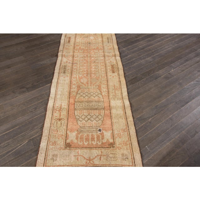 "Antique Khotan Runner- 2'8"" x 9'5"" - Image 6 of 7"