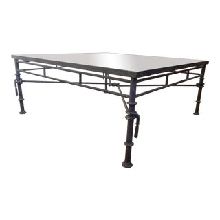 20th Century Contemporary Distressed Metal Cocktail Table For Sale