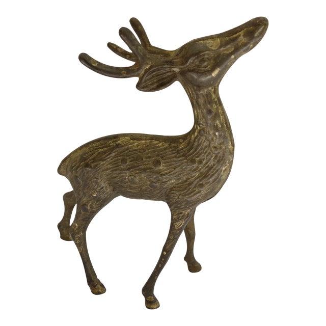 Vintage Brass Deer Figurine For Sale