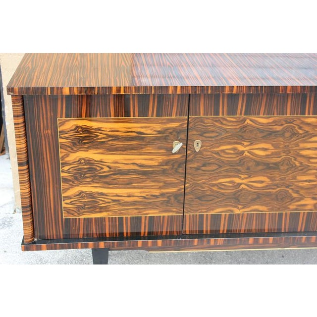 "French Art Deco Exotic Macassar Ebony ""Mushta"" Sideboard / Buffet, circa 1940s - Image 8 of 10"
