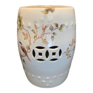 White Ceramic Garden Stool For Sale