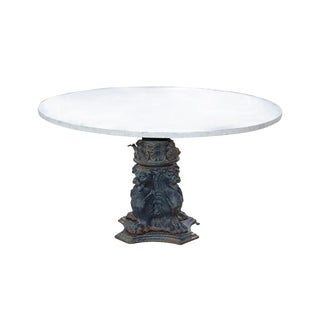 Cast Iron Griffins Marble Table For Sale