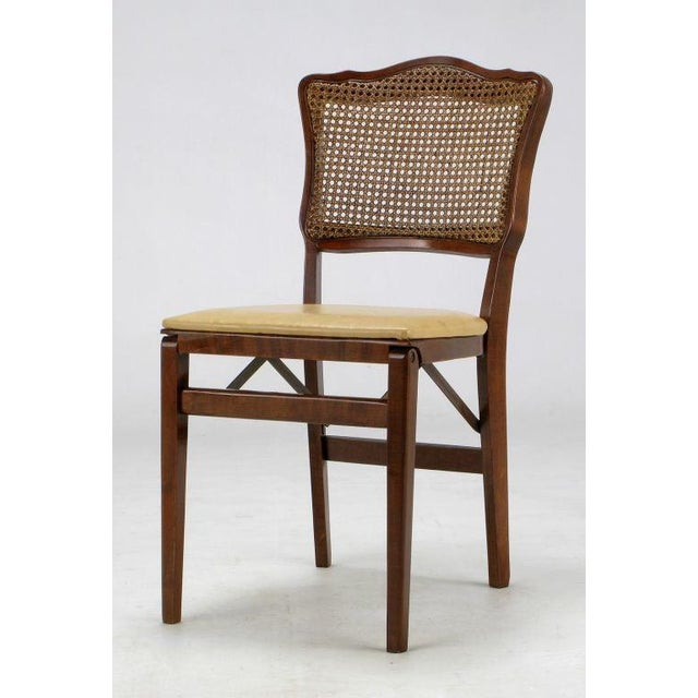 Set of Four Mahogany, Cane & Leather Regency Folding Chairs For Sale - Image 10 of 11