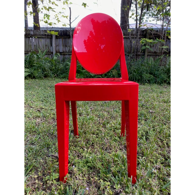 Red Victoria Ghost Red Chair Phillip Starck for Kartell For Sale - Image 8 of 8
