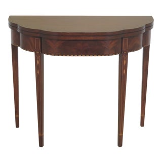 Federal Henkel Harris Mahogany Inlaid Myers Game Table For Sale
