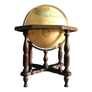 Heirloom Statesman Replogle Globe With Wood Stand For Sale