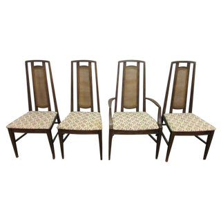 Mid Century High Back Chairs - Set of 4 For Sale