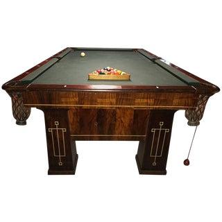 Rare 1918 Brunswick Balke Collender Arts & Crafts Pool Table Rosewood For Sale