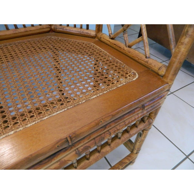Brown Vintage Brighton Pavilion-Style Bamboo Chairs - A Pair For Sale - Image 8 of 11