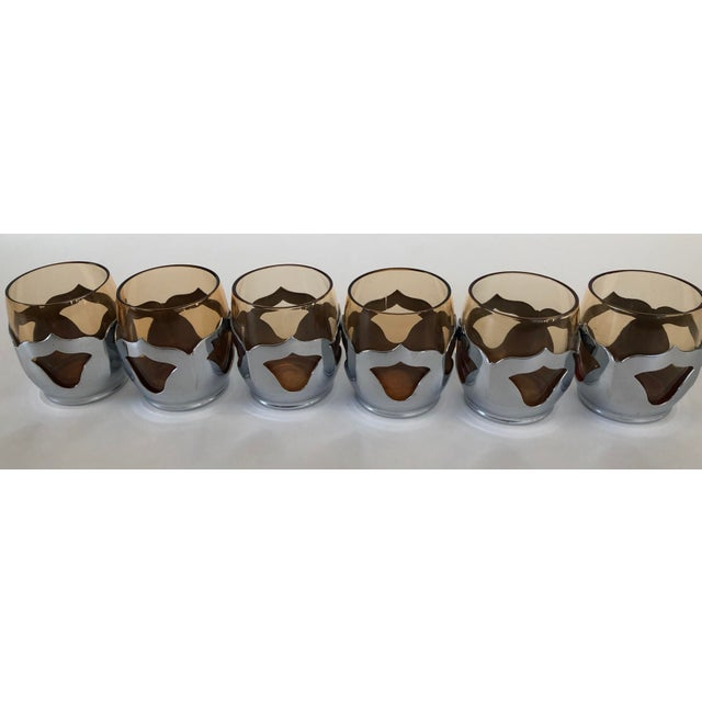 Farber Bros. Mid-Century Modern Krome-Kraft Decanter & Glasses - 7 Pc. Set For Sale - Image 4 of 7