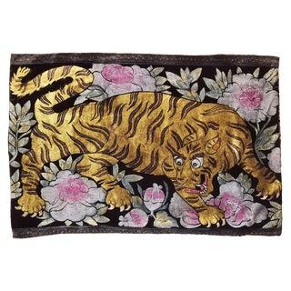 Tibetan Tiger Silk Velvet Pillow For Sale