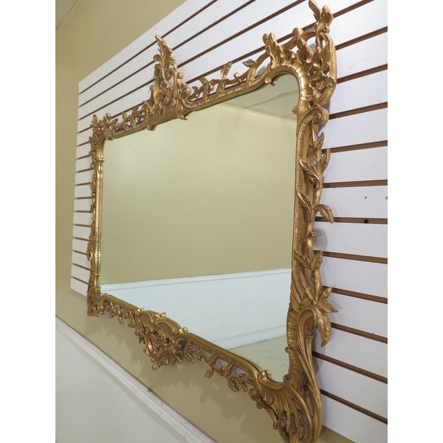 Traditional Carvers Guild Highly Carved Frame Gold Mirror For Sale - Image 3 of 11