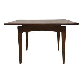Jens Risom Walnut Coffee Table For Sale