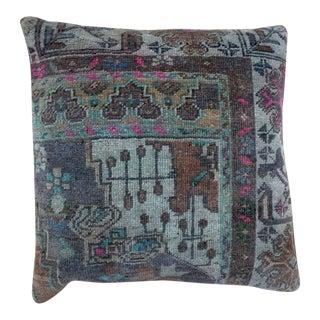 Vintage Turkish Garden Kilim Pillow For Sale