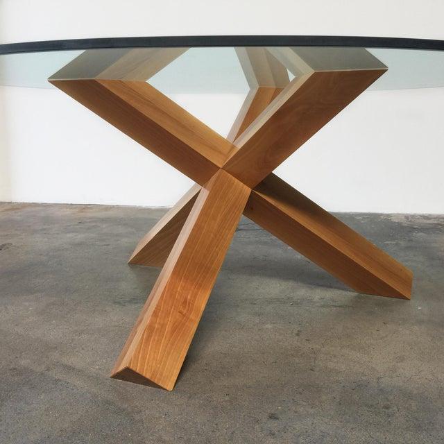 Cassina & Mario Bellini La Rotonda Glass Dining Table - Image 4 of 5