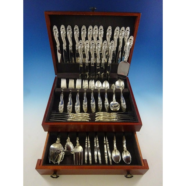 Decor by Gorham Sterling Silver Flatware Set for 18 Service - 132 Pieces For Sale - Image 12 of 12
