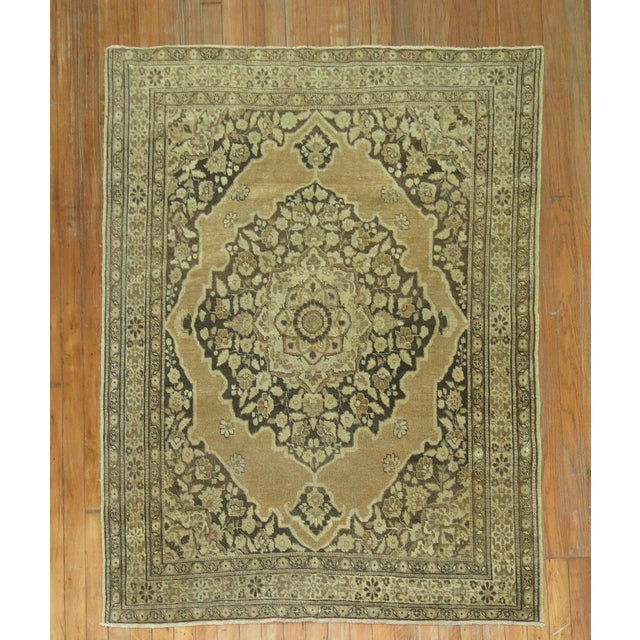Persian Tabriz Rug 3'10'' X 5'. For Sale In New York - Image 6 of 6