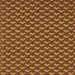 Sample - Schumacher Angolo Wallpaer in Maple For Sale